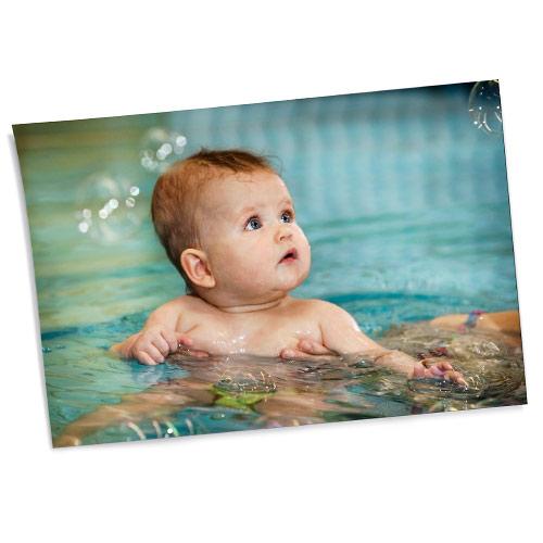 Überwasser Foto-Abzug Babyschwimmen Joe Kramer