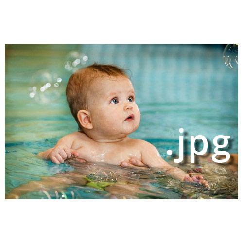 Überwasser-Datei Babyschwimmen Joe Kramer