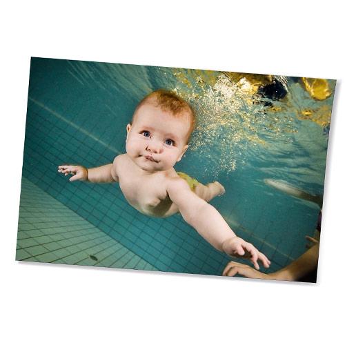 Unterwasser Foto-Abzug Babyschwimmen Joe Kramer